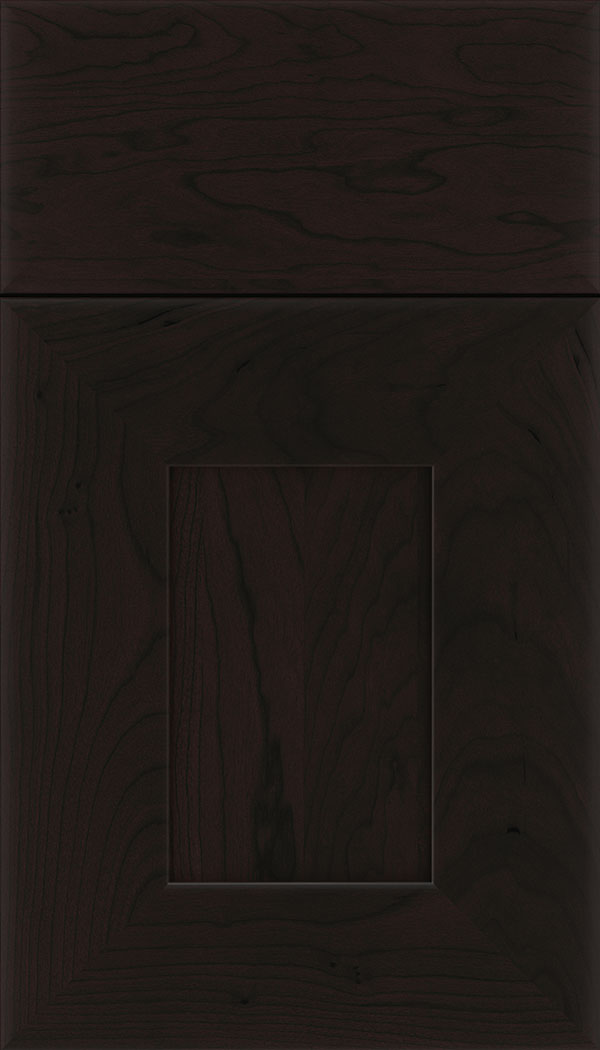 Napoli Cherry flat panel cabinet door in Espresso