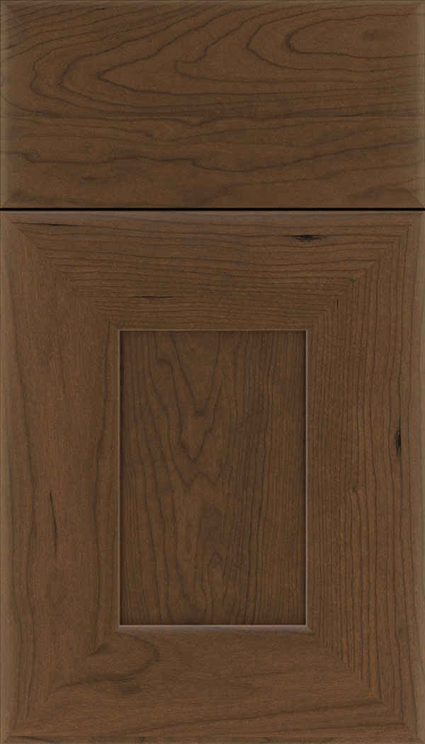 Napoli Cherry flat panel cabinet door in Sienna