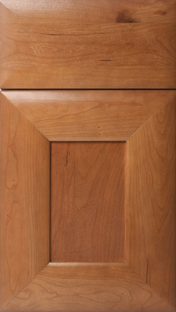 Napoli Cherry flat panel cabinet door in Tuscan
