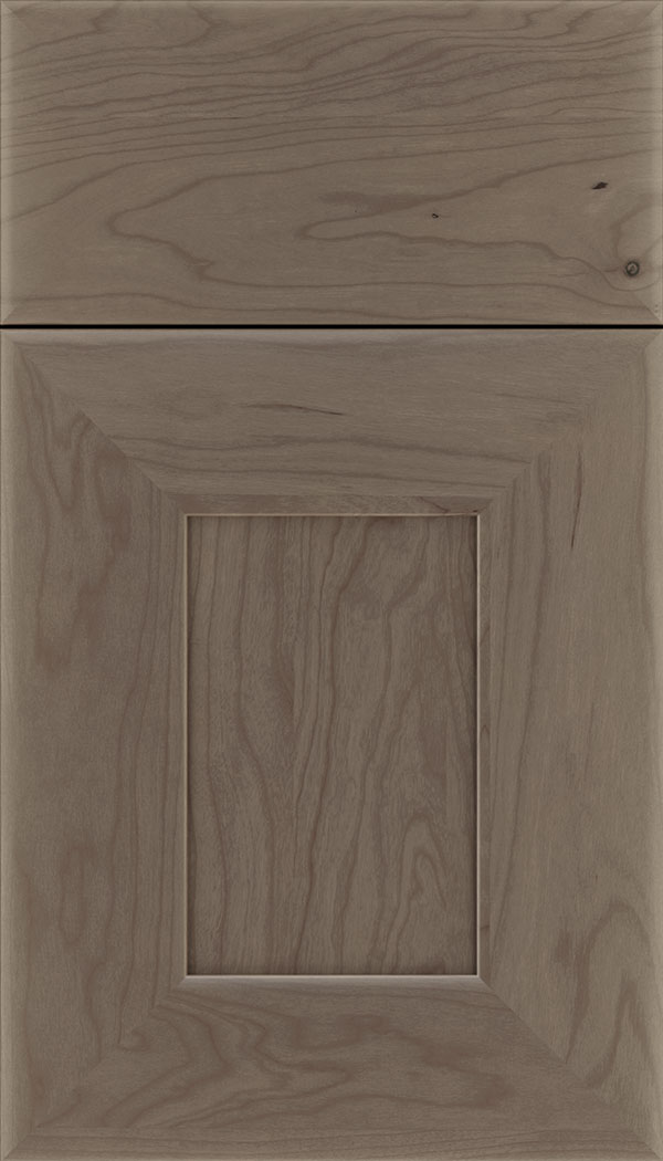 Napoli Cherry flat panel cabinet door in Winter