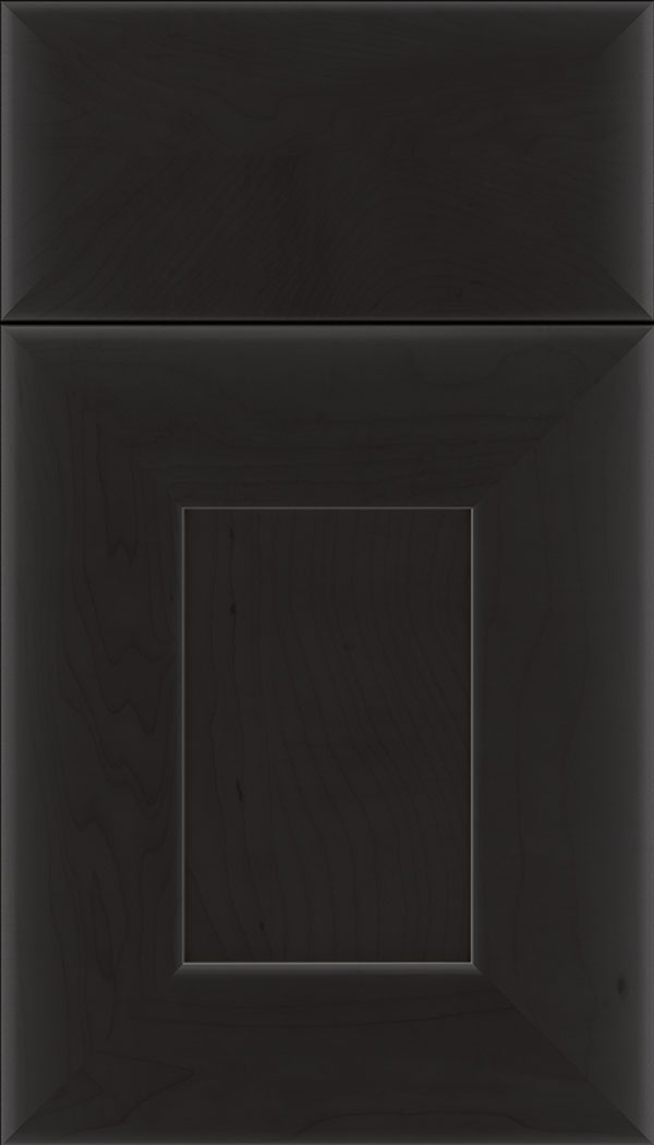 Napoli Maple flat panel cabinet door in Charcoal