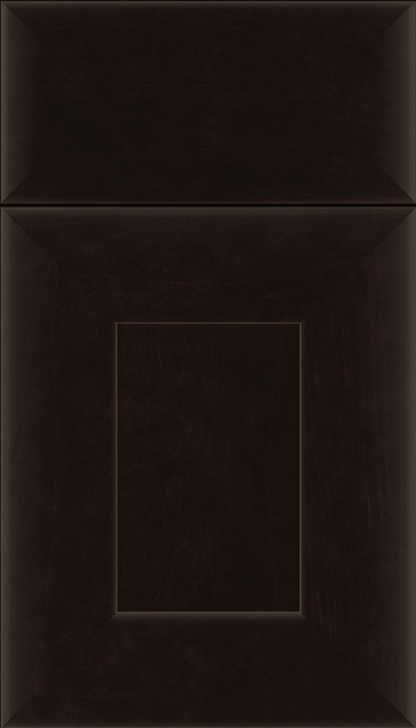 Napoli Maple flat panel cabinet door in Espresso
