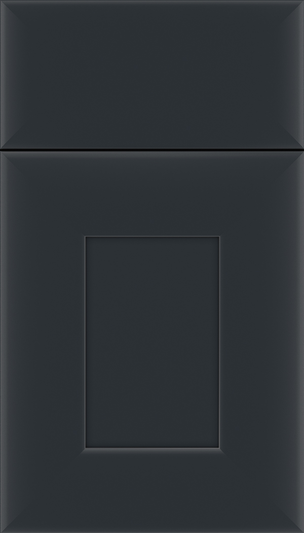 Napoli Maple flat panel cabinet door in Gunmetal Blue