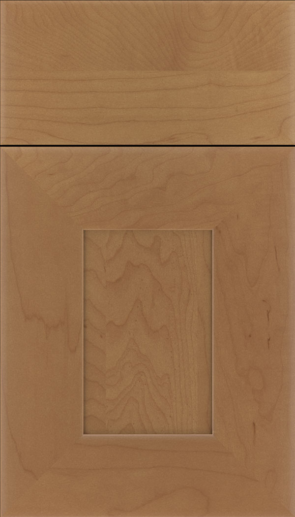 Napoli Maple flat panel cabinet door in Nutmeg