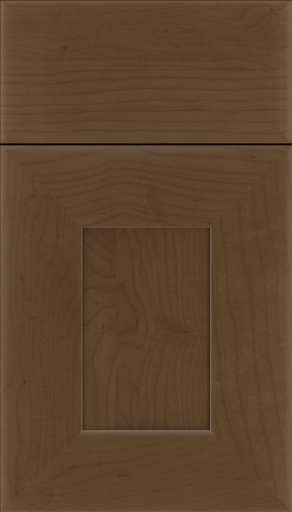 Napoli Maple flat panel cabinet door in Sienna