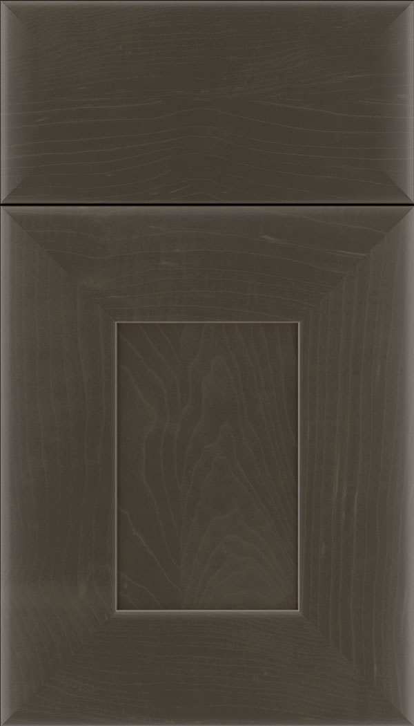 Napoli Maple flat panel cabinet door in Thunder