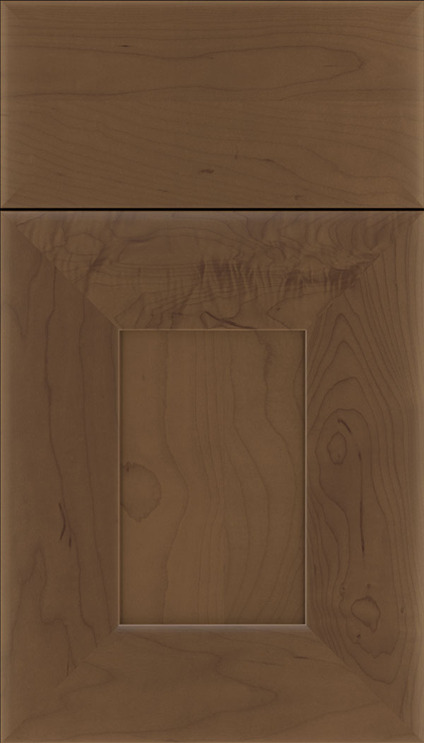 Napoli Maple flat panel cabinet door in Toffee
