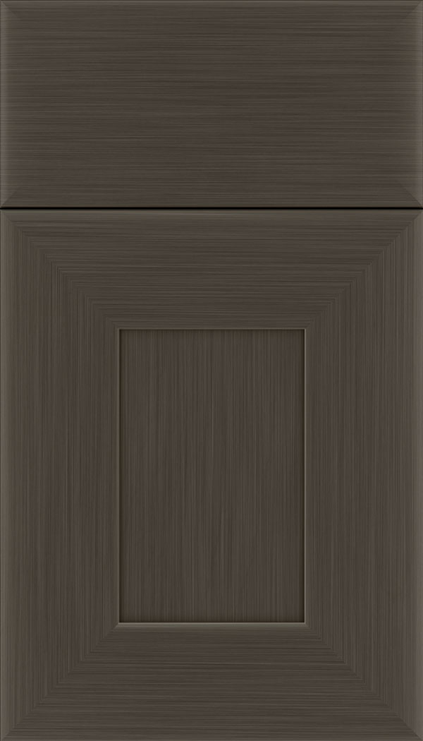 Napoli Maple flat panel cabinet door in Weathered Slate