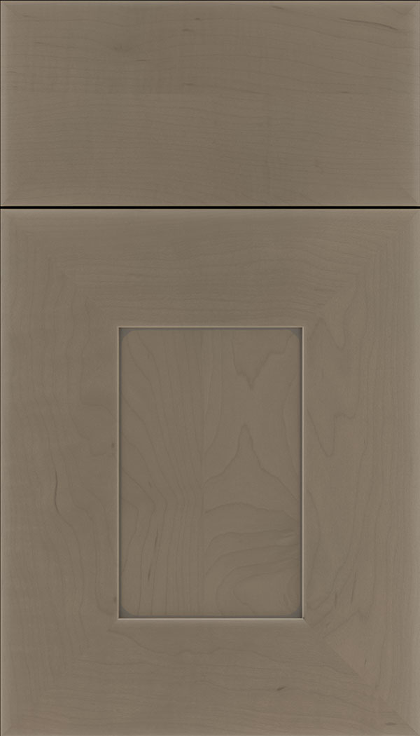 Napoli Maple flat panel cabinet door in Winter with Pewter glaze