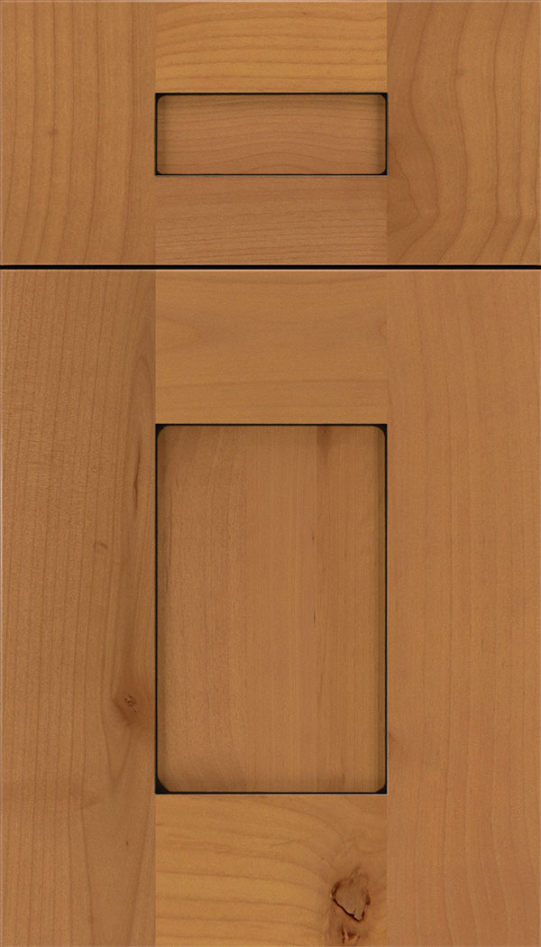 Newhaven 5-Piece Alder shaker cabinet door in Ginger with Black glaze