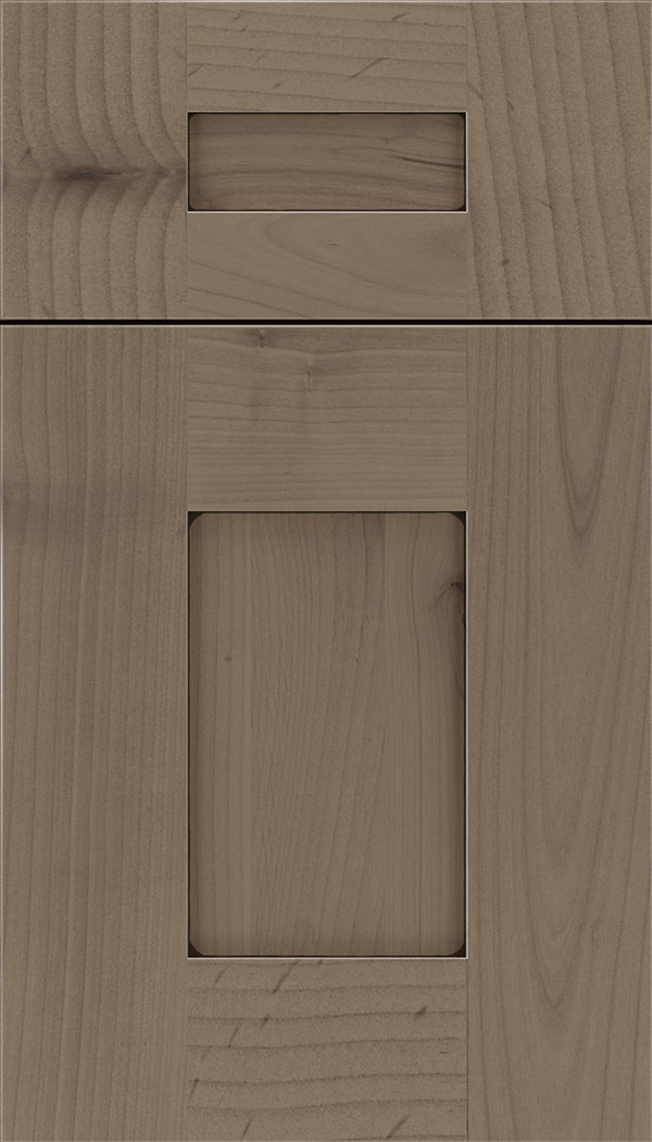 Newhaven 5pc Alder shaker cabinet door in Winter with Black glaze