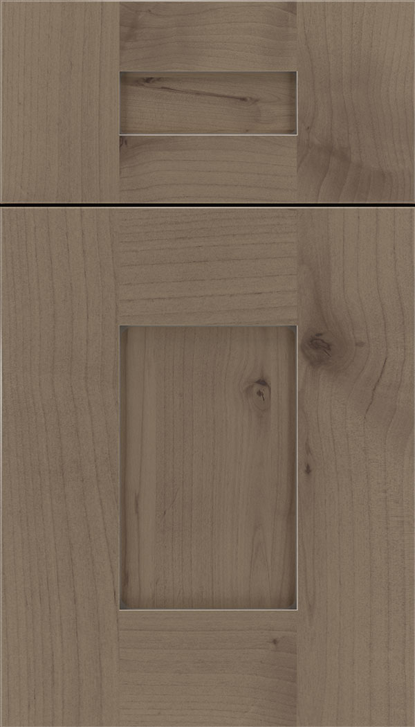 Newhaven 5pc Alder shaker cabinet door in Winter with Pewter glaze