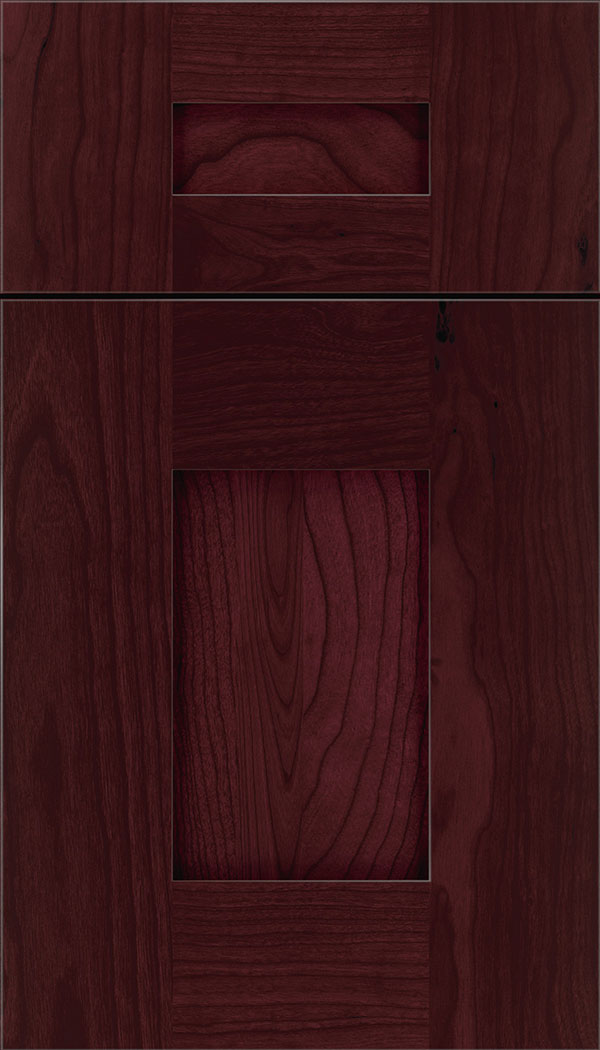 Newhaven 5-Piece Cherry shaker cabinet door in Bordeaux