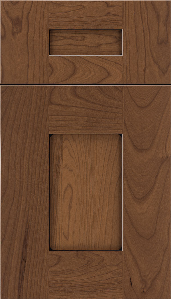 Newhaven 5pc Cherry shaker cabinet door in Nutmeg with Black glaze
