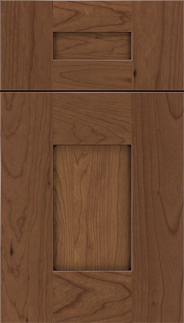 Newhaven 5pc Cherry shaker cabinet door in Nutmeg with Mocha glaze