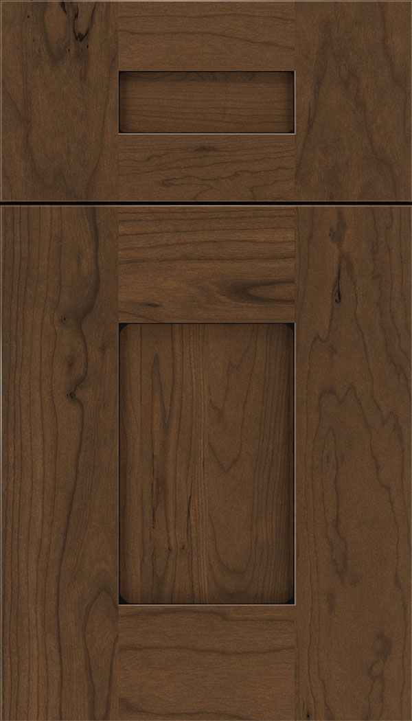 Newhaven 5pc Cherry shaker cabinet door in Sienna with Black glaze