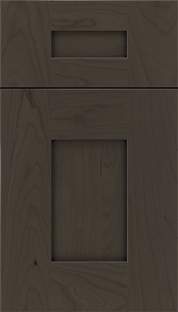 Newhaven 5pc Cherry shaker cabinet door in Thunder with Black glaze