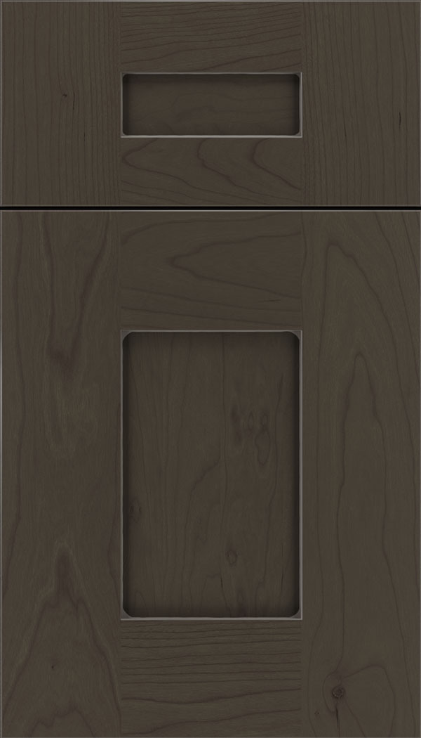 Newhaven 5pc Cherry shaker cabinet door in Thunder with Pewter glaze