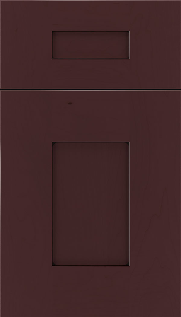 Newhaven 5pc Maple shaker cabinet door in Bordeaux with Black glaze