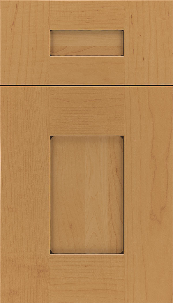 Newhaven 5pc Maple shaker cabinet door in Ginger with Black glaze