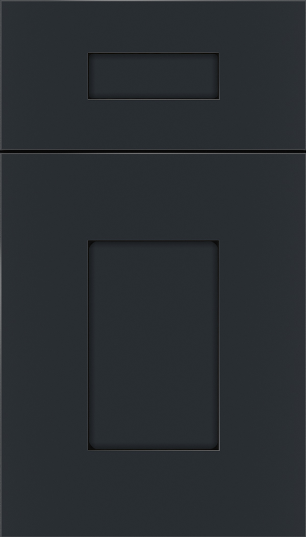 Newhaven 5pc Maple shaker cabinet door in Gunmetal Blue with Black glaze