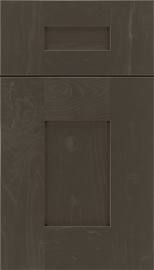 Newhaven 5pc Maple shaker cabinet door in Thunder with Black glaze