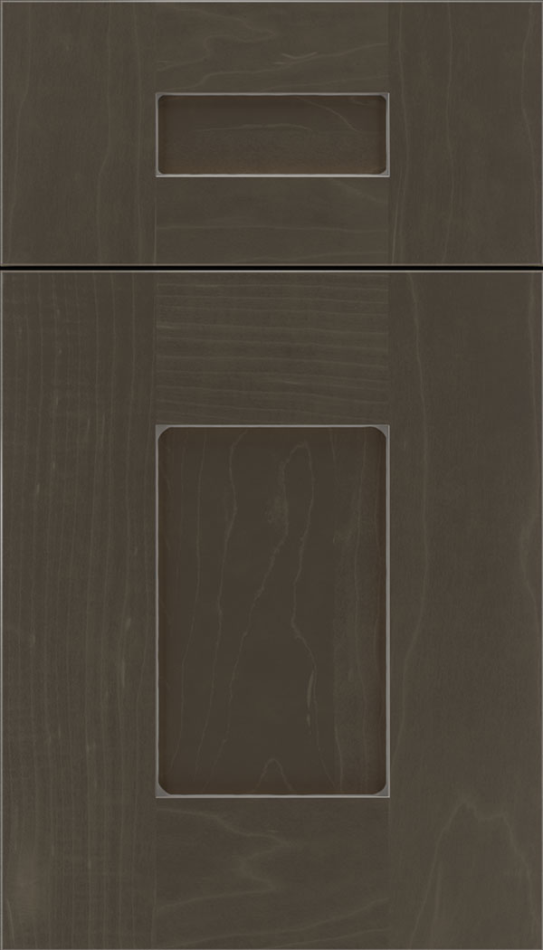 Newhaven 5pc Maple shaker cabinet door in Thunder with Pewter glaze