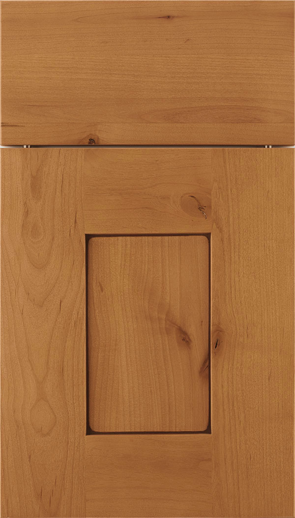 Newhaven Alder shaker cabinet door in Ginger with Mocha glaze