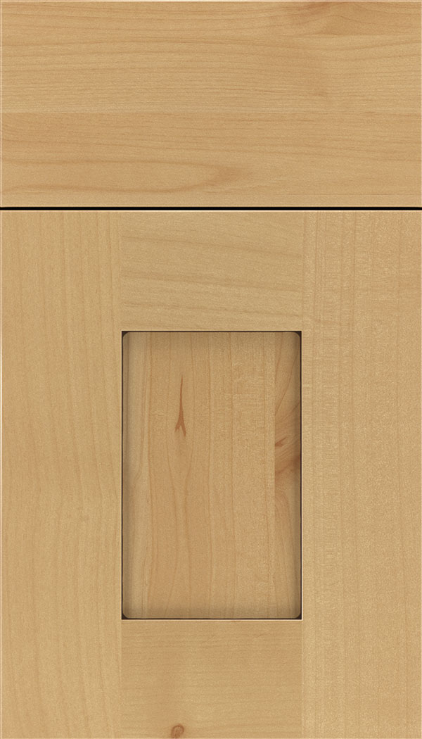 Newhaven Alder shaker cabinet door in Natural with Mocha glaze