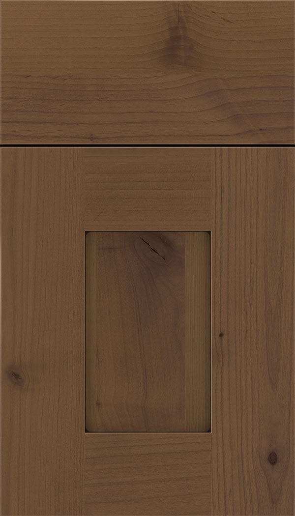 Newhaven Alder shaker cabinet door in Sienna with Black glaze