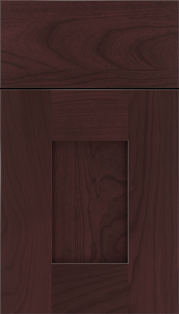 Newhaven Cherry shaker cabinet door in Bordeaux