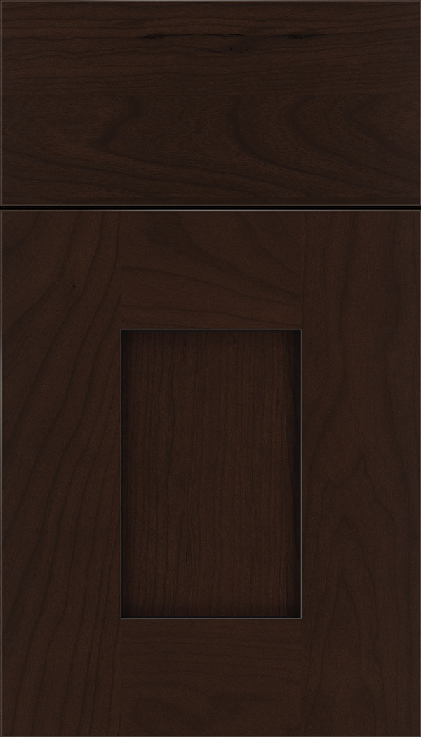Newhaven Cherry shaker cabinet door in Cappuccino with Black glaze