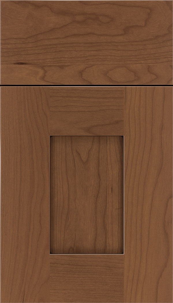 Newhaven Cherry shaker cabinet door in Nutmeg with Mocha glaze