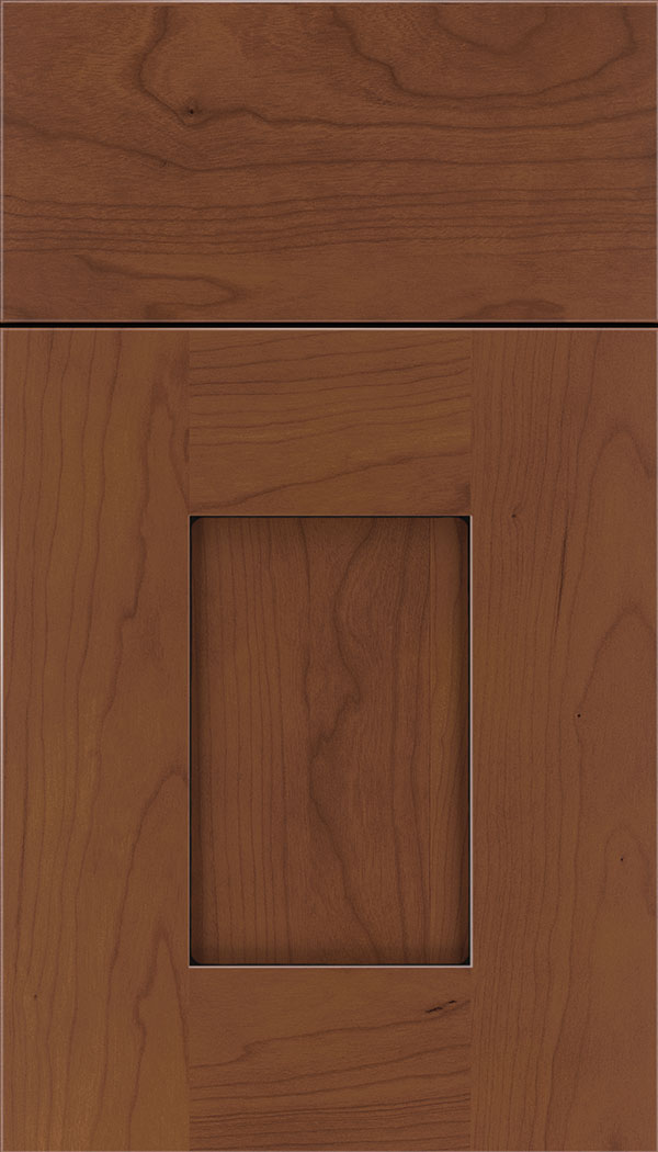 Newhaven Cherry shaker cabinet door in Russet with Black glaze