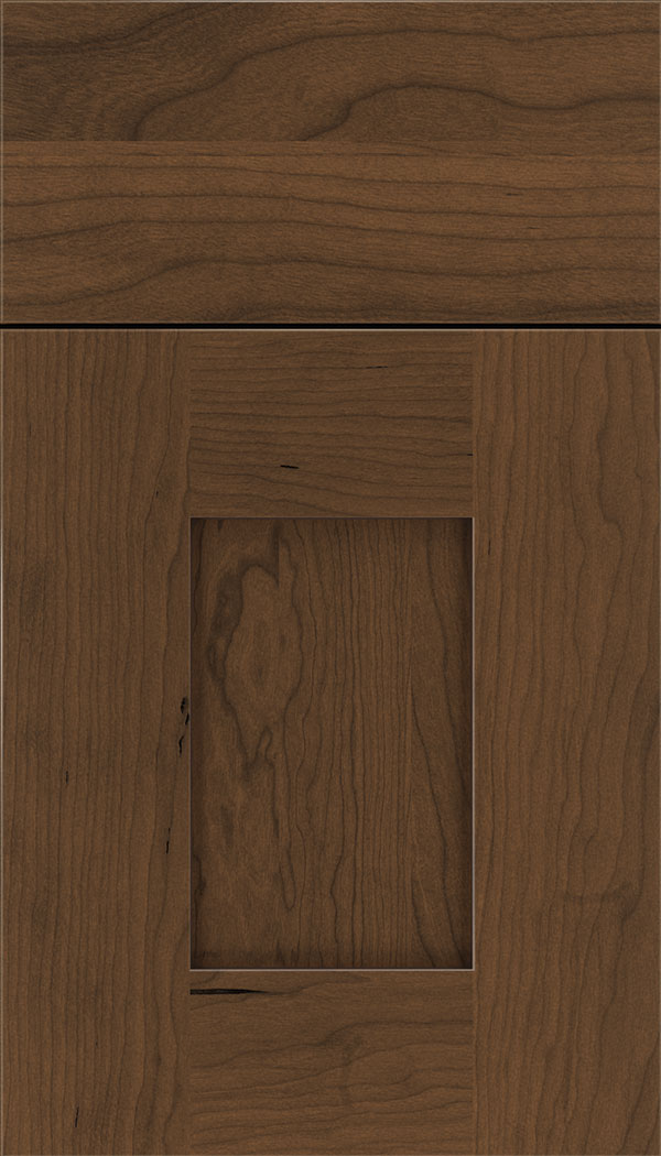 Newhaven Cherry shaker cabinet door in Sienna with Mocha glaze