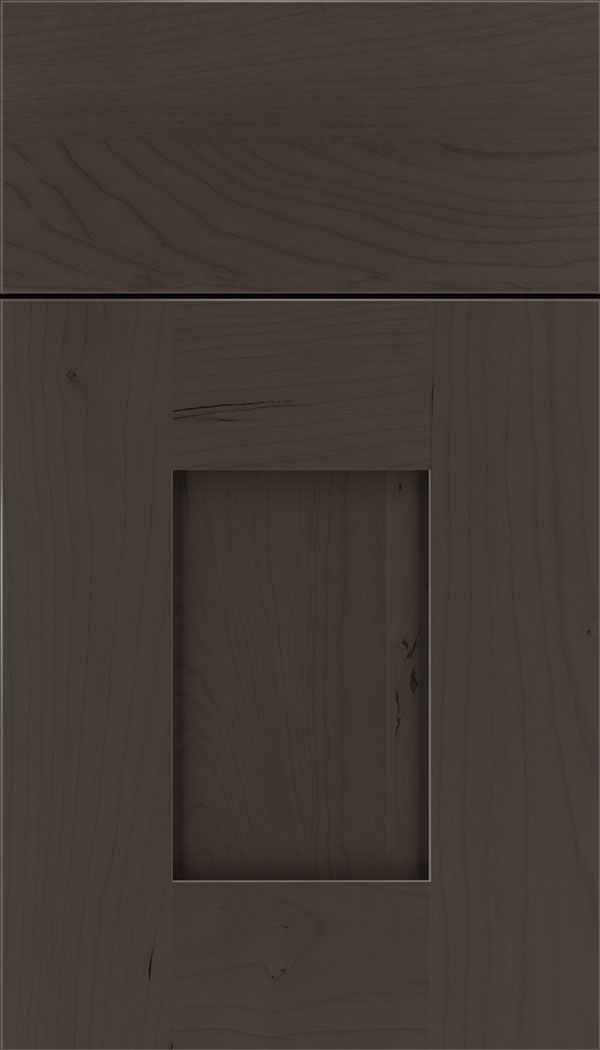 Newhaven Cherry shaker cabinet door in Thunder