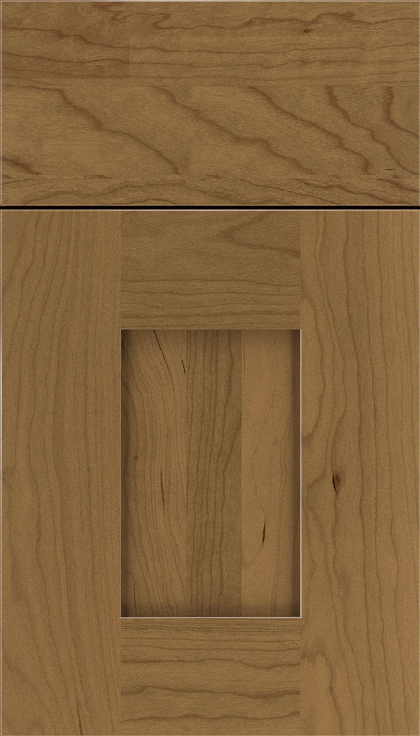 Newhaven Cherry shaker cabinet door in Tuscan