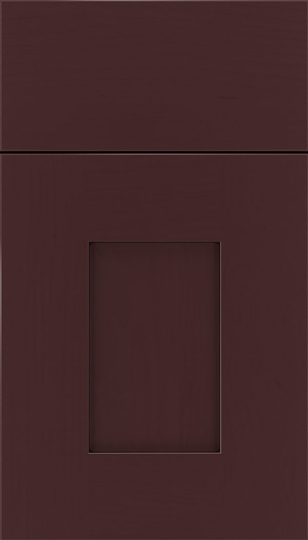 Newhaven Maple shaker cabinet door in Bordeaux with Black glaze