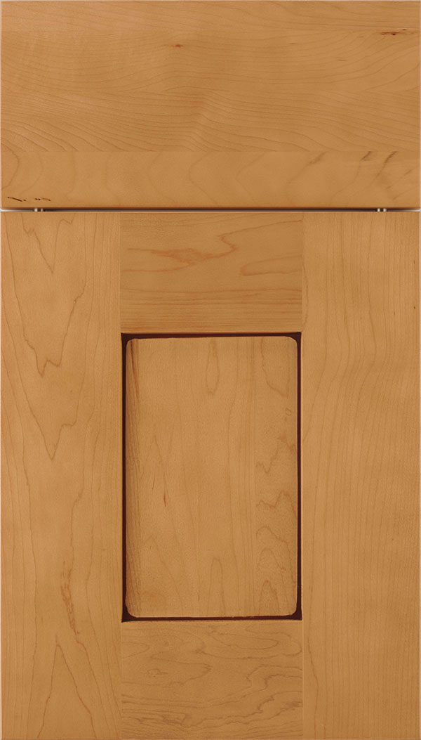 Newhaven Maple shaker cabinet door in Ginger with Mocha glaze