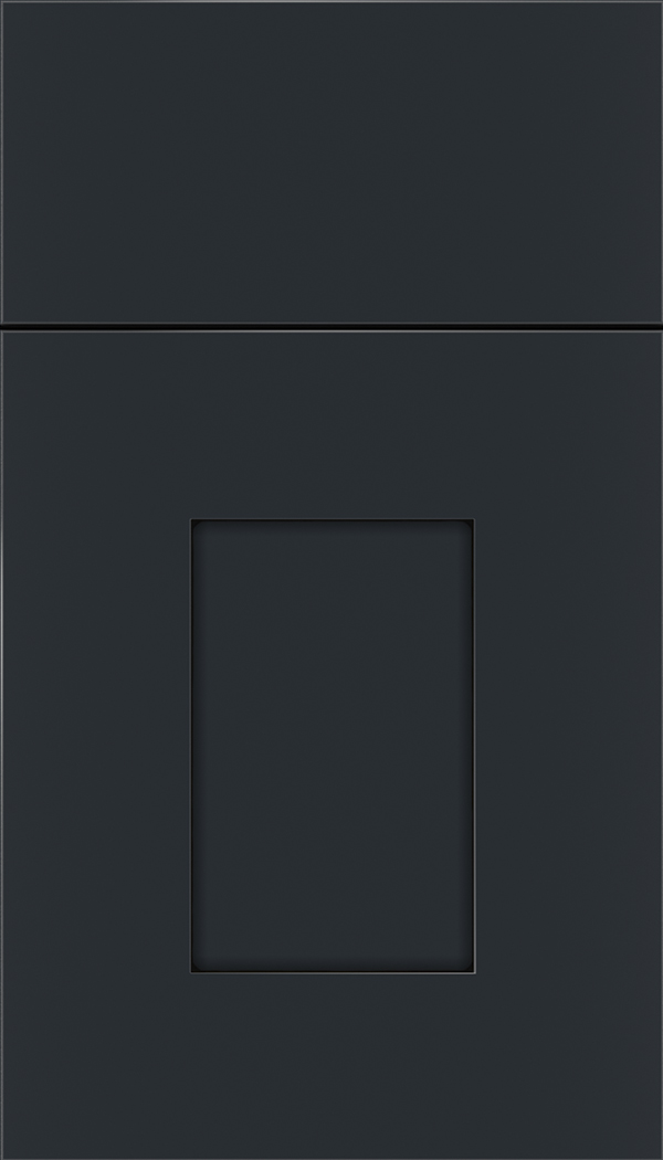 Newhaven Maple shaker cabinet door in Gunmetal Blue with Black glaze