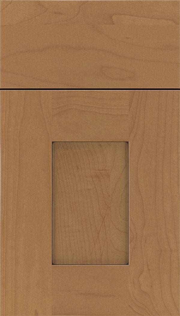 Newhaven Maple shaker cabinet door in Nutmeg with Mocha glaze
