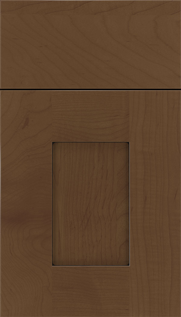 Newhaven Maple shaker cabinet door in Sienna with Black glaze