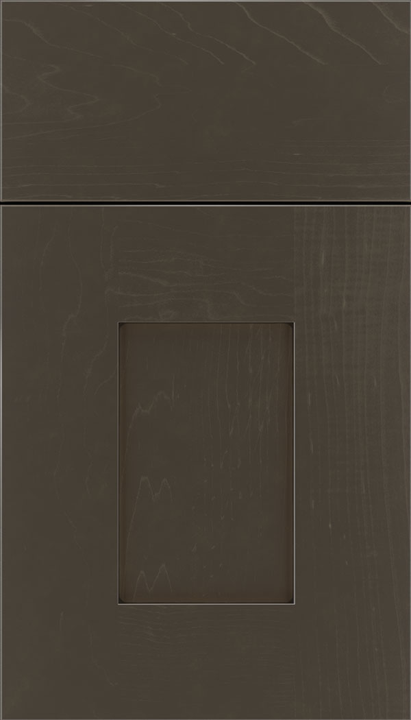 Newhaven Maple shaker cabinet door in Thunder with Black glaze