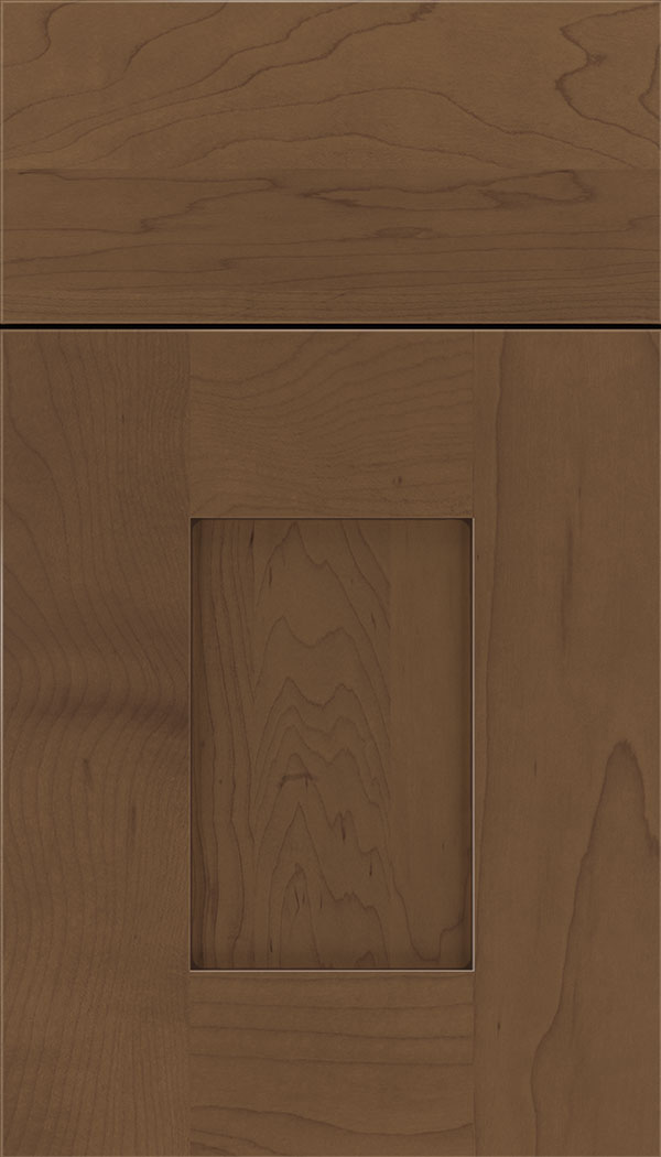 Newhaven Maple shaker cabinet door in Toffee with Mocha glaze