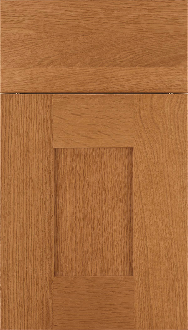 Newhaven Rift Oak shaker cabinet door in Ginger
