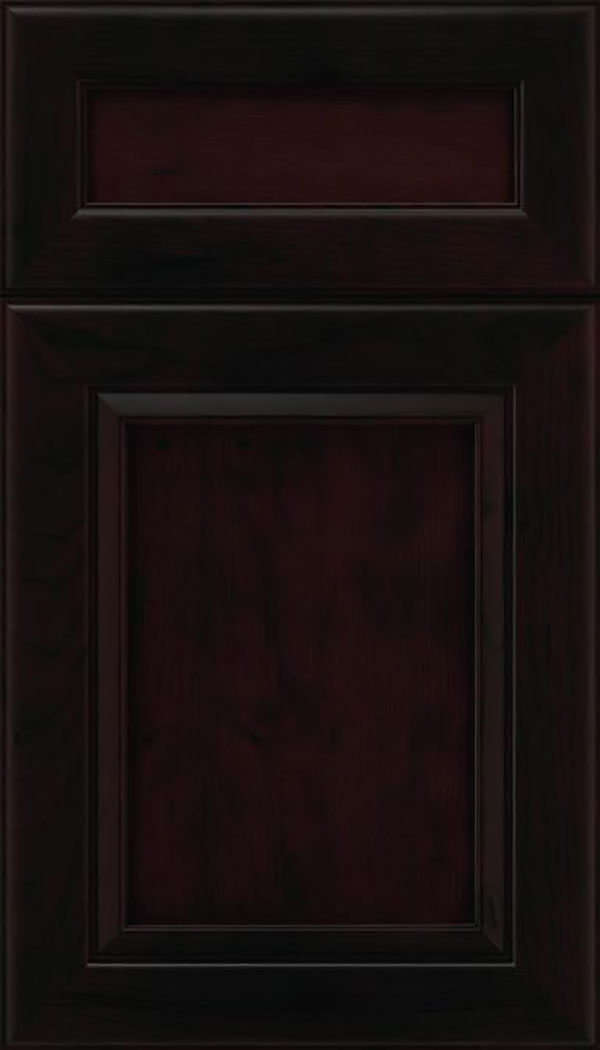 Paloma 5pc Cherry flat panel cabinet door in Espresso