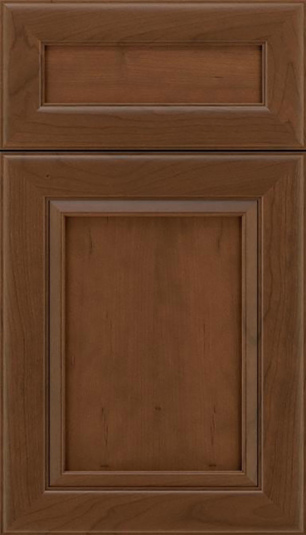 Paloma 5pc Cherry flat panel cabinet door in Sienna