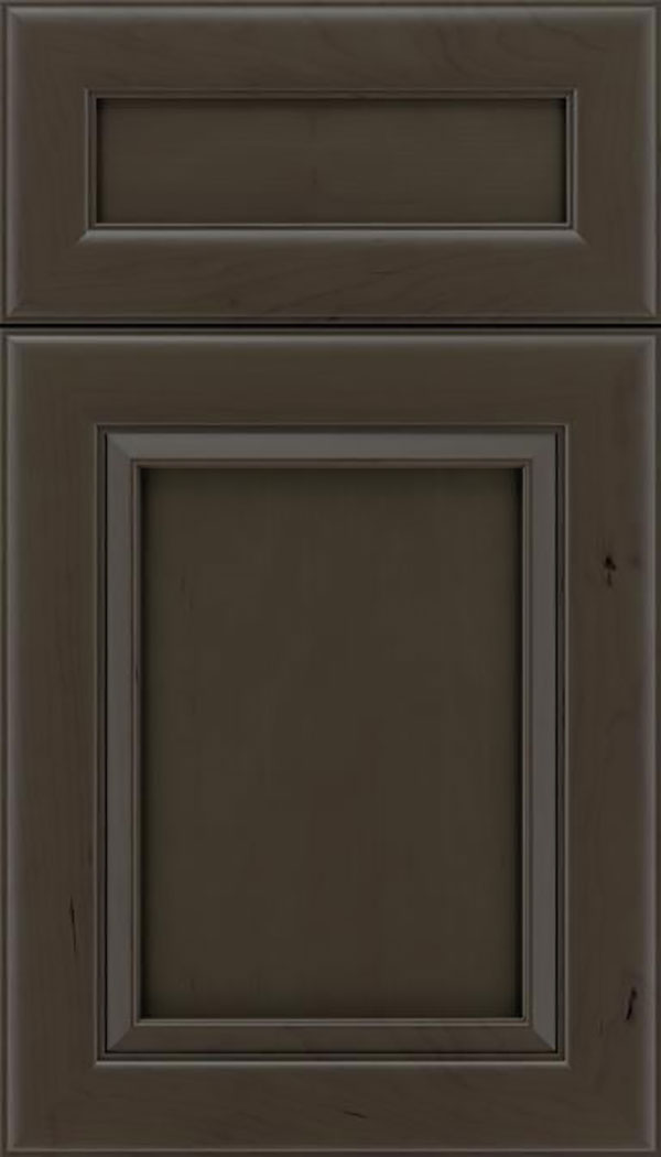 Paloma 5pc Cherry flat panel cabinet door in Thunder