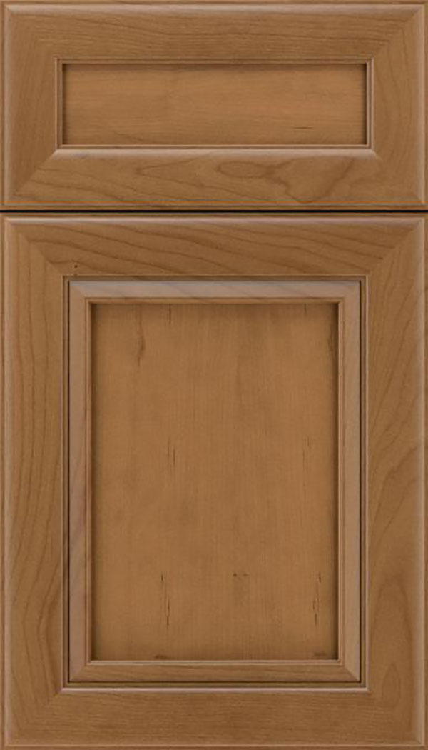 Paloma 5pc Cherry flat panel cabinet door in Tuscan
