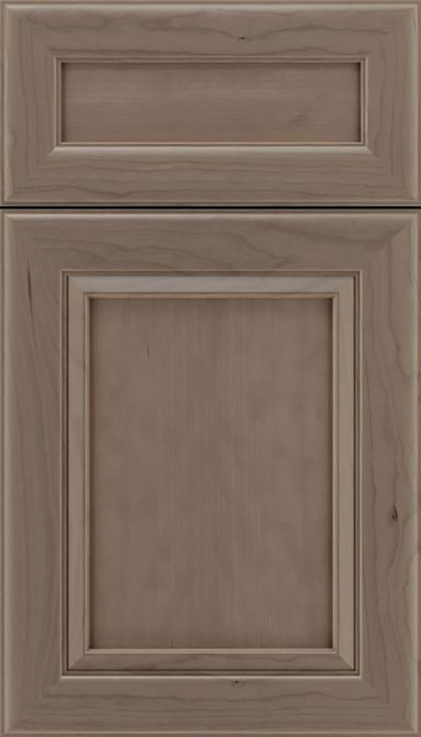 Paloma 5pc Cherry flat panel cabinet door in Winter